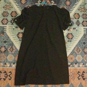 Zara black knee-length dress